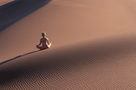 Relaxation & meditation pictures Wall Art as Canvas, Acrylic or Metal Print nude woman on dune                                                          ...