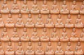 Balance & emotions pictures Wall Art as Canvas, Acrylic or Metal Print Sitting Buddha postures