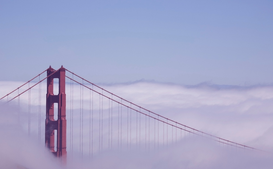 Foto: EE.UU. - Golden Gate Bridge in fog
