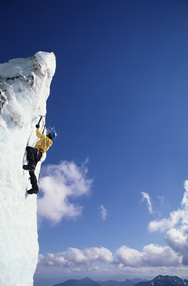 Foto: Deportes extremos - Climber on serac at easton glacier