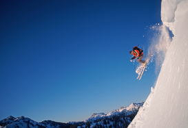 Foto: Deportes extremos - Skier at artist's point
