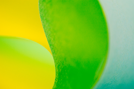 EyeEm Immagini p.ej., como imagen en lienzo o para la pared en metacrilato: Close-Up Of Yellow And Green Paper