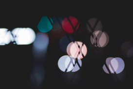 EyeEm Abstract Foto's bijv. als canvasfoto of wandfoto achter acrylglas: Defocused Image Of Multi Colored Lights