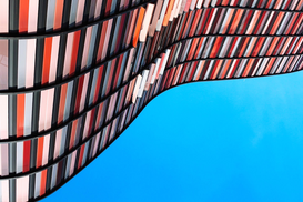 EyeEm Abstract pictures Wall Art as Canvas, Acrylic or Metal Print High Section Of Built Structure Against Clear Blue Sky