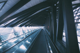 Editor′s Choice Pictures Wall Art as Canvas, Acrylic or Metal Print Moving walkway at an airport