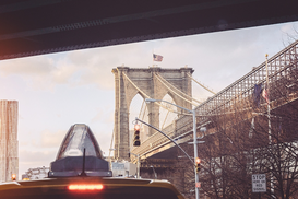 Editor′s Choice Pictures Wall Art as Canvas, Acrylic or Metal Print Brooklyn Bridge Against Sky