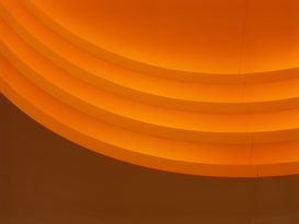 EyemEm Architecture pictures Wall Art as Canvas, Acrylic or Metal Print Curving Orange Steps