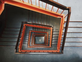 EyeEm Immagini p.ej., como imagen en lienzo o para la pared en metacrilato: Directly Above Shot Of Steps