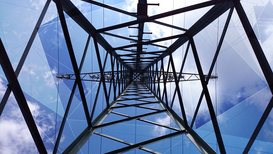 EyeEm Bilder z.B als Leinwandbild oder Wandbild hinter Acrylglas: Directly below shot of electricity pylon