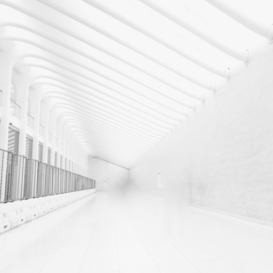 EyemEm Architecture pictures Wall Art as Canvas, Acrylic or Metal Print Empty White Corridor Along Walls
