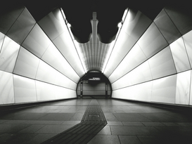 Editor′s Choice Pictures Wall Art as Canvas, Acrylic or Metal Print Interior Of Modern Subway Station