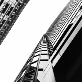 EyemEm Architecture pictures Wall Art as Canvas, Acrylic or Metal Print Low angle view of modern office building against clear sky