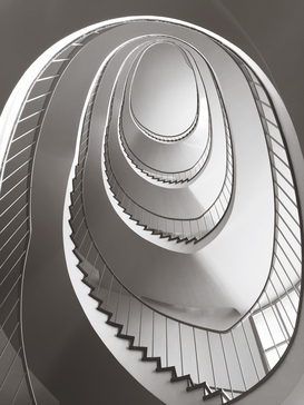 EyemEm Architecture pictures Wall Art as Canvas, Acrylic or Metal Print Low Angle View Of Spiral Staircase