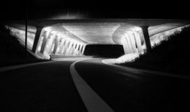 Editor′s Choice Pictures Wall Art as Canvas, Acrylic or Metal Print Road tunnel