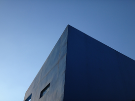 EyemEm Architecture pictures Wall Art as Canvas, Acrylic or Metal Print Top Corner Of Building Against Clear Sky