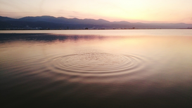 Editor′s Choice Pictures Wall Art as Canvas, Acrylic or Metal Print Circular Ripple Patterns In Sea