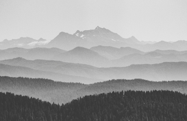 EyeEm Landschappen Foto's bijv. als canvasfoto of wandfoto achter acrylglas: Panoramic View Of Mountain Range
