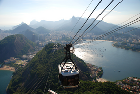 EyeEm Landscape pictures Wall Art as Canvas, Acrylic or Metal Print view from Sugarloaf, Rio de Janeiro