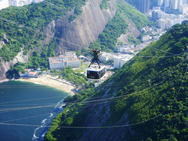 Foto: Ciudades - High Angle View Of Sugarloaf Cable Car Above Beach