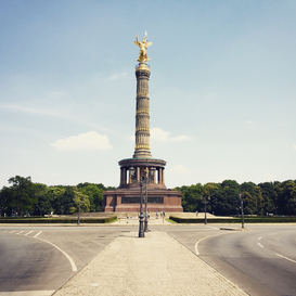 New Pictures Wall Art as Canvas, Acrylic or Metal Print Low Angle View Of Berlin Victory Column Against Sky