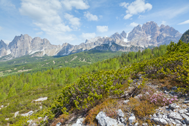 Landscape pictures Wall Art as Canvas, Acrylic or Metal Print Berglandschaft über Cortina d'Ampezzo