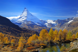 Fall pictures Wall Art as Canvas, Acrylic or Metal Print Matterhorn im Herbst