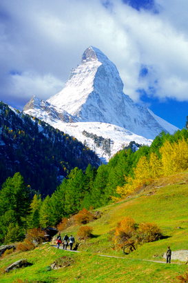 Pictures of Europe & the Alps  Wall Art as Canvas, Acrylic or Metal Print Matterhorn im Herbst