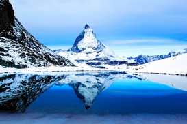 Pictures of Europe & the Alps  Wall Art as Canvas, Acrylic or Metal Print Matterhorn im Winter