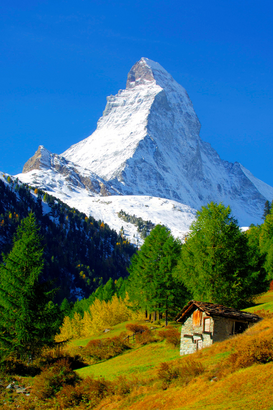 Landscape pictures Wall Art as Canvas, Acrylic or Metal Print Matterhorn im Winter