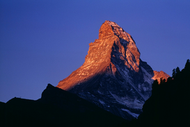 Pictures of Europe & the Alps  Wall Art as Canvas, Acrylic or Metal Print The Matterhorn at sunrise, Zermatt, Switzerland