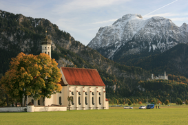 Pictures of Europe & the Alps  Wall Art as Canvas, Acrylic or Metal Print Wallfahrtskirche / Saeuling