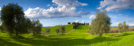 Landscape pictures Wall Art as Canvas, Acrylic or Metal Print San Quirico d'Orcia, Italy