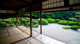 Landscape pictures Wall Art as Canvas, Acrylic or Metal Print Shisendo temple. Kyoto. Japan.
