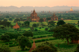 World travel pictures Wall Art as Canvas, Acrylic or Metal Print Bagan