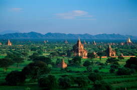 Landscape pictures Wall Art as Canvas, Acrylic or Metal Print Bagan