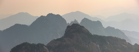 World travel pictures Wall Art as Canvas, Acrylic or Metal Print Huangshan Mountains, Anhui, China