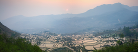 Landschappen Foto's bijv. als canvasfoto of wandfoto achter acrylglas: Yuanyang valley, China