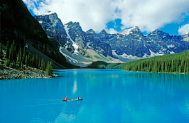Canadian & American Landscapes Wall Art as Canvas, Acrylic or Metal Print Moraine Lake, Banff NP Canada