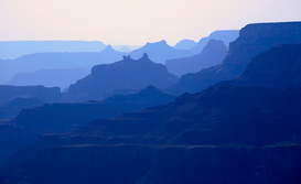 Landscape pictures Wall Art as Canvas, Acrylic or Metal Print Stacked canyons Grand Canyon