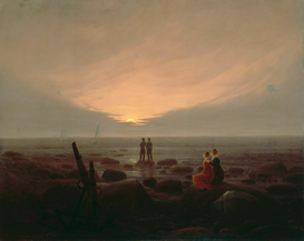 New Pictures Wall Art as Canvas, Acrylic or Metal Print C.D.Friedrich, Mondaufgang am Meer