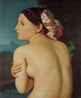 Friedrich & Romanticism pictures Wall Art as Canvas, Acrylic or Metal Print J.A.D.Ingres, Die Badende