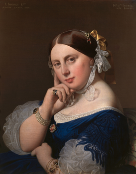 Friedrich & Romanticism pictures Wall Art as Canvas, Acrylic or Metal Print J.A.D.Ingres, Mme Ingres, geb. Ramel