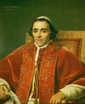 Friedrich & Romanticism pictures Wall Art as Canvas, Acrylic or Metal Print Papst Pius VII. / v.J.L.David