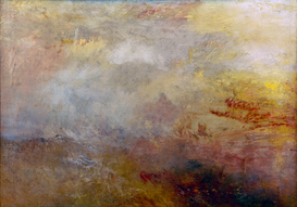 New Pictures Wall Art as Canvas, Acrylic or Metal Print W.Turner, Stürmische See mit Delphinen