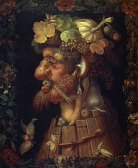 Michelangelo & Renaissance pictures Wall Art as Canvas, Acrylic or Metal Print Giuseppe Arcimboldo/ Der Herbst/ 1573