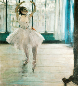 Affiches Monet impressionnisme pour les toiles ou images murales sous acrylique par exemple A Dancer at the Window
