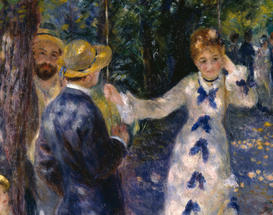 Monet & Impressionist pictures Wall Art as Canvas, Acrylic or Metal Print A.Renoir, Die Schaukel / Ausschnitt