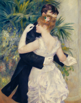 Monet & Impressionist pictures Wall Art as Canvas, Acrylic or Metal Print A.Renoir, Tanz in der Stadt / 1883 /Det.