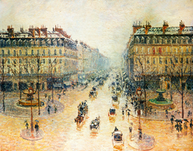 Monet & Impressionist pictures Wall Art as Canvas, Acrylic or Metal Print Avenue de l'Opera, Paris