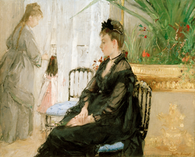 Monet & Impressionist pictures Wall Art as Canvas, Acrylic or Metal Print B.Morisot, Interieur